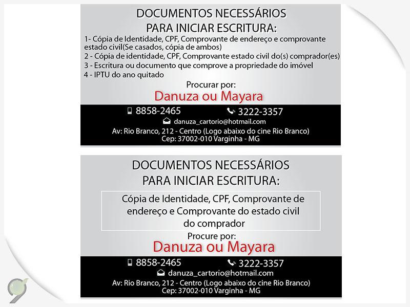 Cartão de visitas Danuza e Mayara