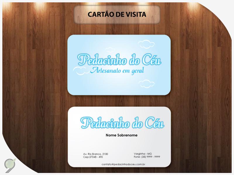 Cartão de visitas Pedacinho do Céu