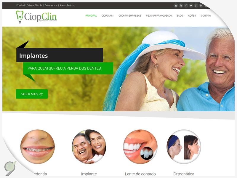 CiopClin – Criação de site