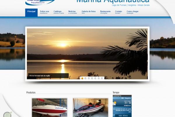 Marina Aquanáutica – Criação de site