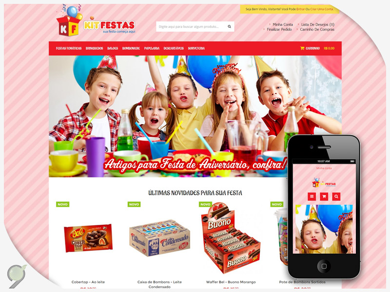Loja Virtual – Kit Festas