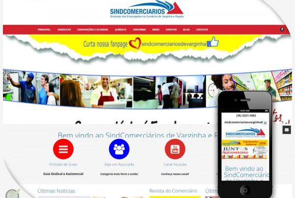 Criação de Site – Sindcomerciários Varginha