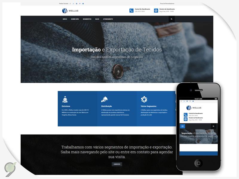 Desevolvimento de Sistema – Criação de Site – Wellus do Brasil