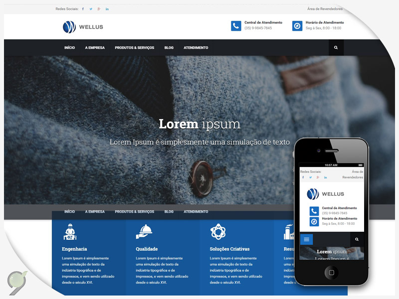 Criação de Site – Wellus